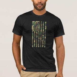 US Flag - Camo - Vertical T-Shirt