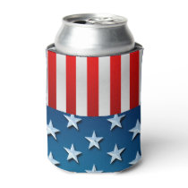 US Flag Can Cooler