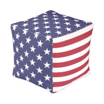 US Flag - Celebrate America - 4th of July Party Pouf