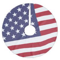 US Flag - Celebrate America - Independence Day Brushed Polyester Tree Skirt