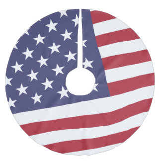 US Flag - Celebrate America - Independence Day Brushed Polyester Tree Skirt