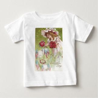 US Flag Child Rose Tombstone Graveyard T-shirt