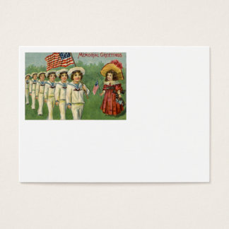 US Flag Children Parade Memorial Day Business Card
