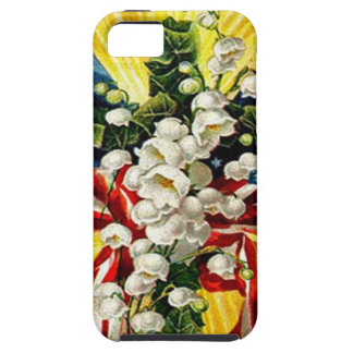US Flag Christian Cross Dove Lily Of The Valley iPhone SE/5/5s Case
