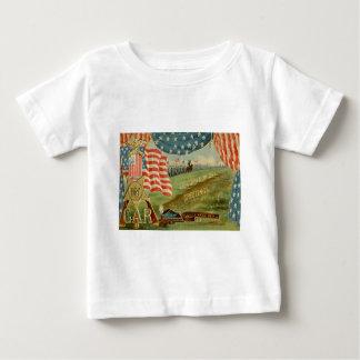 US Flag Civil War Union Medal Baby T-Shirt