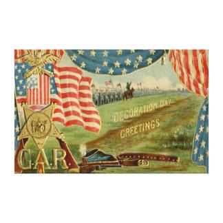 US Flag Civil War Union Medal Canvas Print
