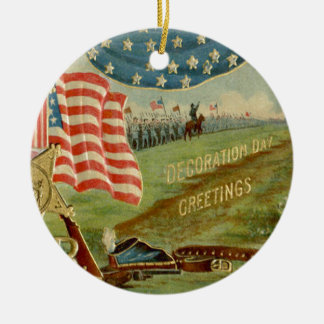 US Flag Civil War Union Medal Christmas Ornament