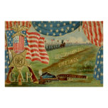 US Flag Civil War Union Medal Posters