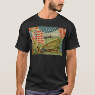 US Flag Civil War Union Medal T-Shirt