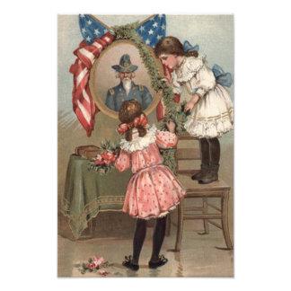 US Flag Civil War Union Memorial Children Photo Print