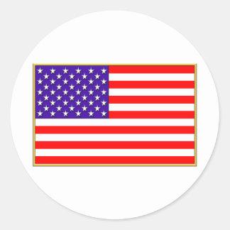 US Flag Classic Round Sticker