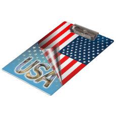 US Flag Clipboard