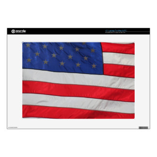US Flag closeup on a 15 in Zazzle SKIN Laptop Skins