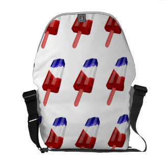 US Flag Colored Popsicle Water Color Messenger Bag