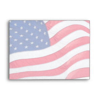 US Flag Colors Envelope