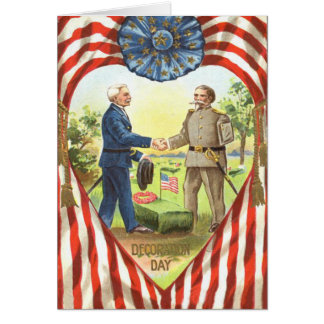 US Flag Confederate Union Civil War Card