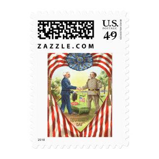 US Flag Confederate Union Civil War Postage Stamps