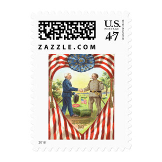 US Flag Confederate Union Civil War Postage Stamp