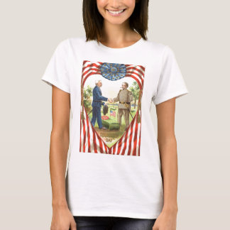 US Flag Confederate Union Civil War T-Shirt