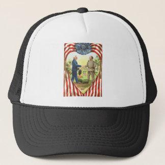 US Flag Confederate Union Civil War Trucker Hat