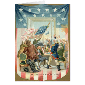 US Flag Congress First 4th of July Card