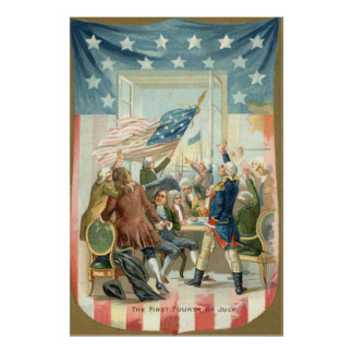 US Flag Congress First 4th of July Posters
