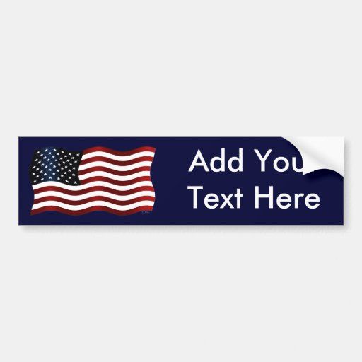 US Flag Create Your Own Bumper Sticker Zazzle