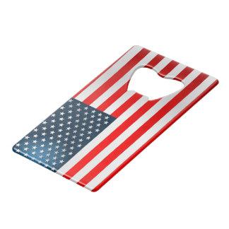 US Flag Credit Card Bottle Opener
