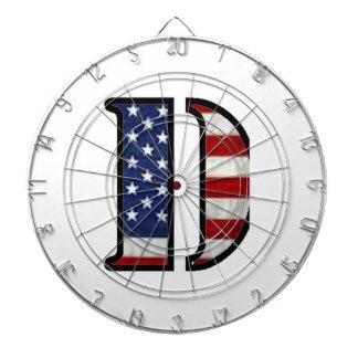 "US Flag ""D"" Dart Boards"
