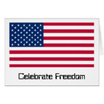 US Flag Day: Freedom in Red, White, and Blue Greeting Card