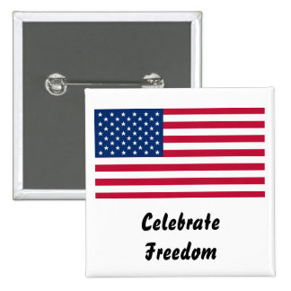 US Flag Day: Freedom in Red, White, and Blue Pinback Button