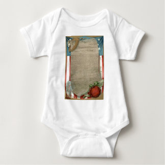 US Flag Declaration of Independence 1776 Baby Bodysuit