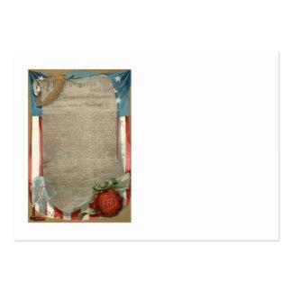 US Flag Declaration of Independence 1776 Large Business Card