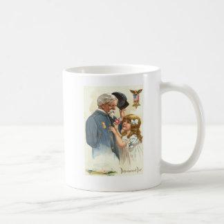 US Flag Disabled Veteran Rose Girl Coffee Mug