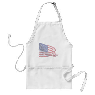 US Flag - distressed Aprons