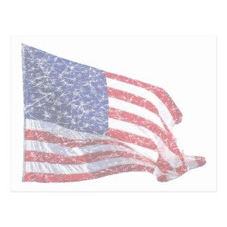 US Flag - distressed Postcard