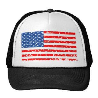 US Flag, Distressed Trucker Hat
