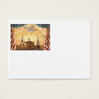 US Flag Dove Sun Peace Cannon Rifle Sunrise Business Card