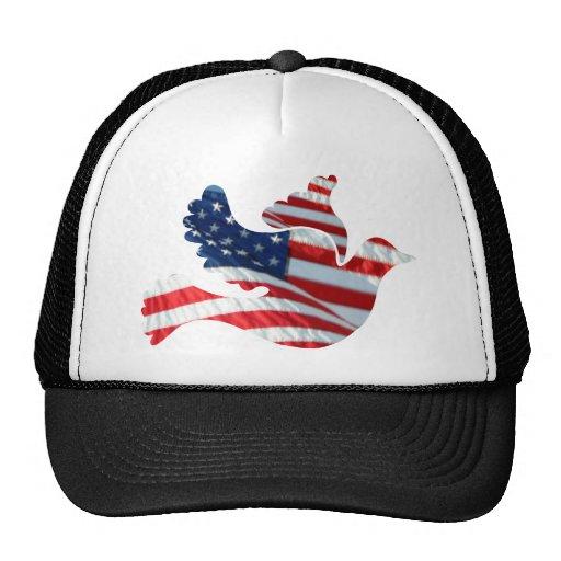 US Flag Dove Trucker Hat