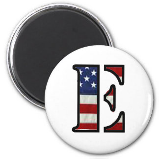 "US Flag ""E"" Fridge Magnets"
