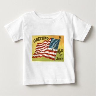 US Flag Eagle 4th of July Greeting T Shirt