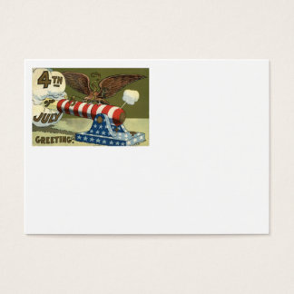 US Flag Eagle Cannon Explosion Business Card