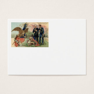 US Flag Eagle Cannon Monument Wreath Business Card