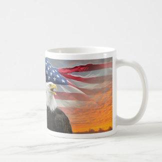 US Flag Eagle Fiery Sunrise Coffee Mug