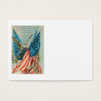 US Flag Eagle Rose Memorial Day Business Card
