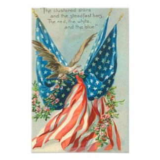 US Flag Eagle Rose Memorial Day Photo Print