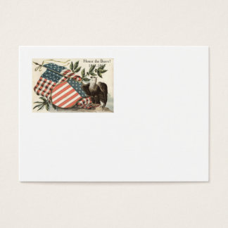 US Flag Eagle Shield Memorial Day Business Card