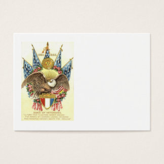 US Flag Eagle Shield Rose Memorial Day Business Card