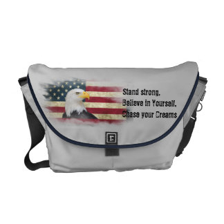 US Flag / Eagle. Stand strong, believe in yourself Courier Bag