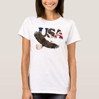 US FLAG & EAGLE USA-style Ladies Shirt